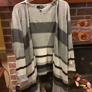 Flyaway color block sweater